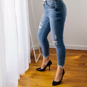 Tribeca Frayed Hem Jeans
